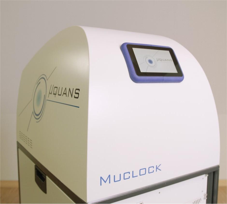 Détail de la Muclock, l'horloge atomique…