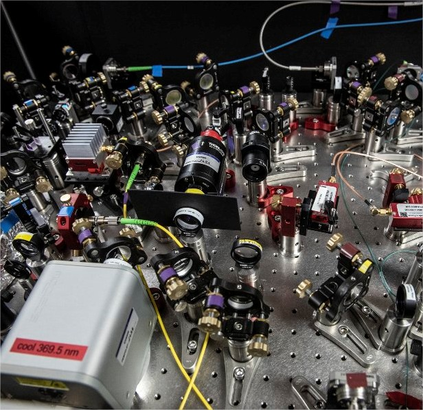 Détail d'un des lasers d'une expérience…